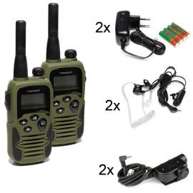 Set Topcom + 2 Topcom Z125 PTTs