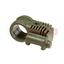 Picatinny QR Offset Flashlight Adaptor OD