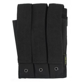 Molle Pouch Side Arm 3 Mags Closed Black