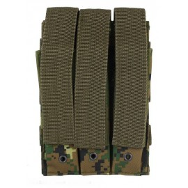 Molle Pouch Side Arm 3 Mags Closed MARPAT Woodland
