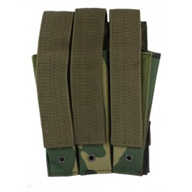 Molle Pouch Side Arm 3 Mags Closed Woodland