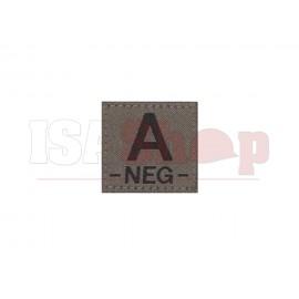 A Neg Bloodgroup Patch RAL7013