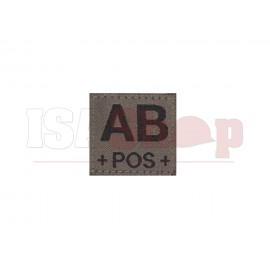 AB Pos Bloodgroup Patch RAL7013