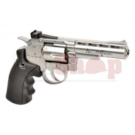 4 Inch Revolver Chrome Full Metal Co2