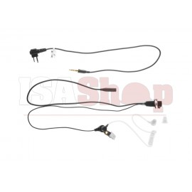 FBI Style Acoustic Headset Motorola 2-Way Connector