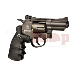 2.5 Inch Custom Revolver Full Metal Black Co2