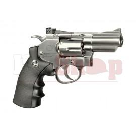 2.5 Inch Custom Revolver Full Metal Chrome Co2