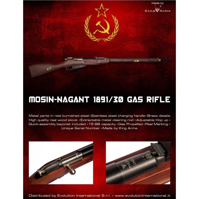 Mosin-Nagant Model 1891/30 Rifle (Gas) - Iron Site Airsoft Shop