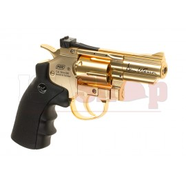 2.5 Inch Revolver Gold Full Metal Co2