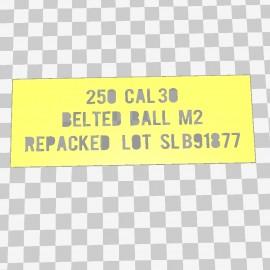 30 Cal Ammo Box Stencil