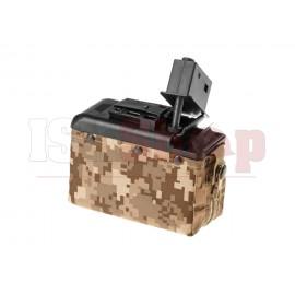Boxmag M249 1200rds Tan