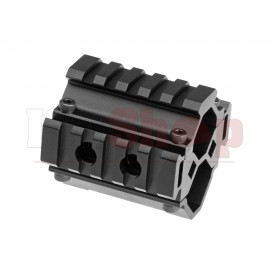 Triple Rail Shotgun Barrel Mount 5-Slot