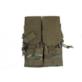 Molle Double Mag Pouch Woodland