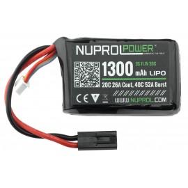 LiPo 11.1V 1300mAh 20C PEQ Type
