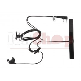 Bone Conduction Headset Kenwood Connector Black