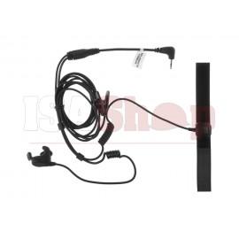 Bone Conduction Headset Motorola 1-Pin Connector Black