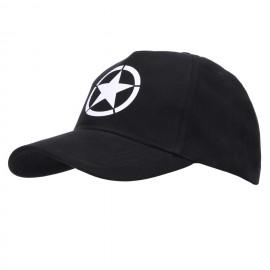 Baseball Cap Allied Star WWII Black