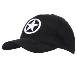 Baseball Cap Allied Star 3D Black