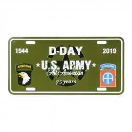 D-Day US Army Nummerbord