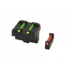 Fiber Optic Handgun Sight Set for G./Dragonfly/Mantis/ACP/Scorpion - Black