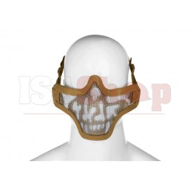 Steel Half Face Mask Death Head Tan