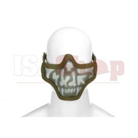 Steel Half Face Mask Death Head OD