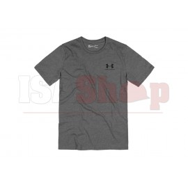 UA Sportstyle Left Chest Tee Charcoal Medium Heather