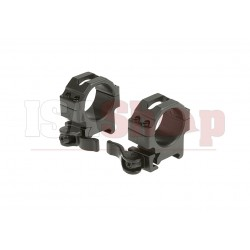 QD 30mm CNC Mount Rings Low