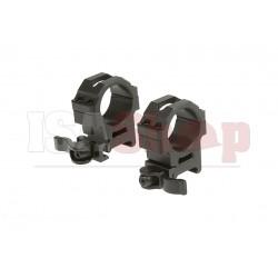 QD 30mm CNC Mount Rings Medium