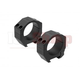 Precision Matched Ring Set 35 mm .95 Inch Black