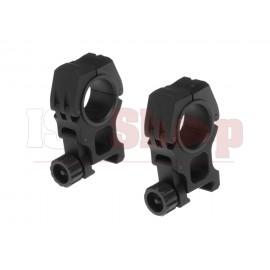 M10 Mount Rings 25.4mm / 30mm Black