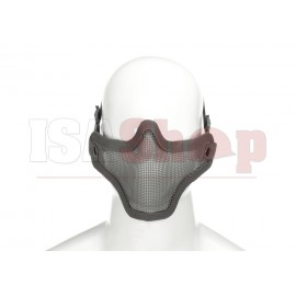 Steel Half Face Mask Grey