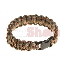 Paracord Bracelet OD Green Camo Small Buckle