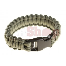 Paracord Bracelet Grey Large Buckle