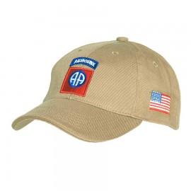 82nd Airborne Baseball Cap Khaki