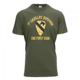 1st Cavalry Division T-Shirt Green