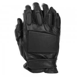 Fingerless Police Gloves Black