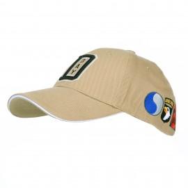 WWII D-Day Normandy Baseball Cap Khaki