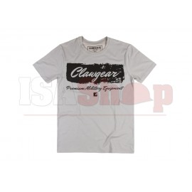 Handwritten Clawgear T-Shirt Light Grey