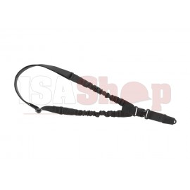 One Point Elastic Support Sling Snap Hook Black