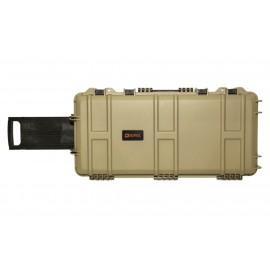 Waterproof Case 75 x 33 x 13 cm Pre-Cut Foam Tan