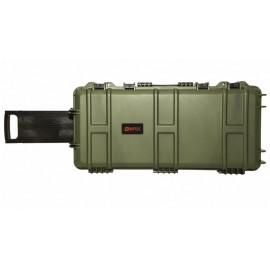 Waterproof Case 75 x 33 x 13 cm Pre-Cut Foam Green