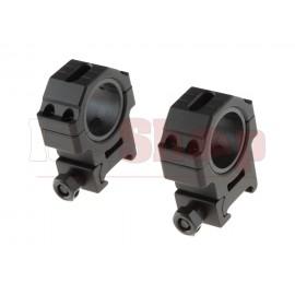 30mm Medium Ring Set Black