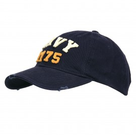 US Navy 1775 Stonewashed Baseball Cap Blue