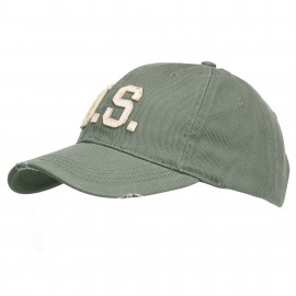 US Stonewashed Baseball Cap Green