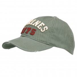 US Marines 1775 Stonewashed Baseball Cap Green
