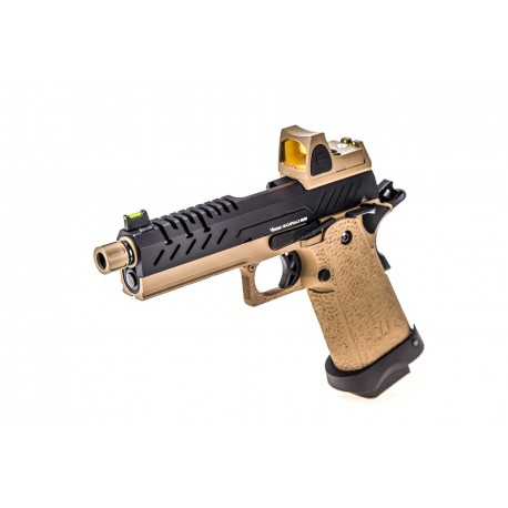 Hi-Capa 4.3 GBB Tan / Black 0,9J + BDS red-dot