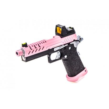 Hi-Capa 4.3 GBB Pink / Black 0,9J + BDS red-dot