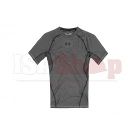 UA HeatGear Compression Tee Carbon Heater