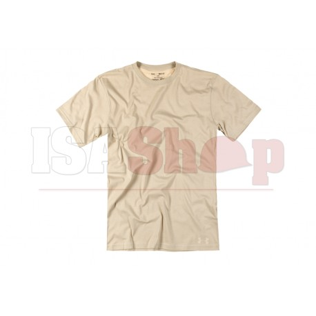 UA Tactical HeatGear Charged Cotton Tee Beige